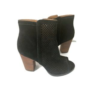 Lucky Brand Black Perforated Booties